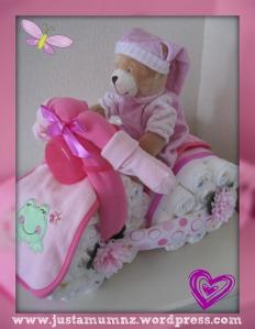Gorgeous Baby Gift - Nappy Bike Tutorial