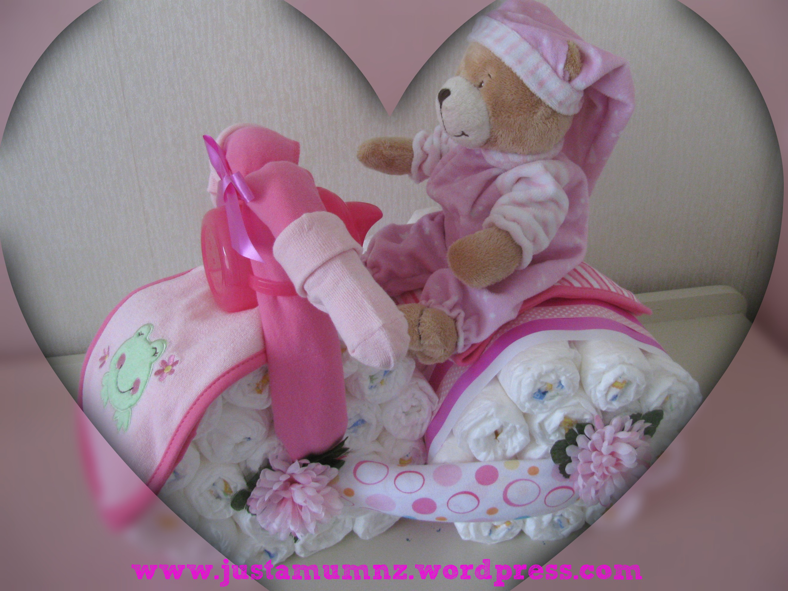 Gorgeous Baby Gift Nappy Bike Tutorial Just A Mum