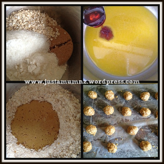 Anzac Biscuits - Method for Baking