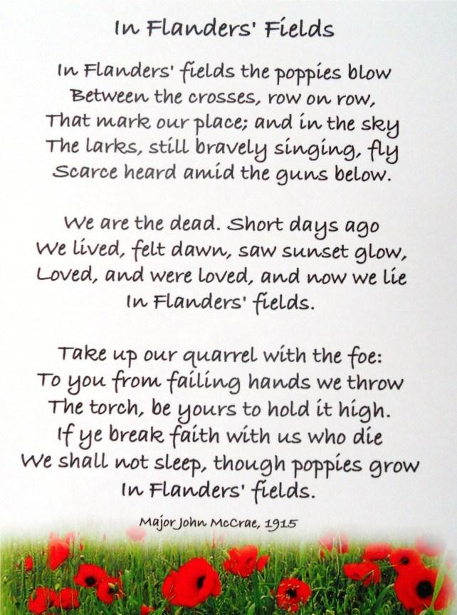 Flanders Fields - Anzac Day