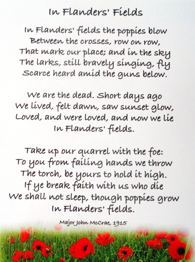 Flanders Fields - Anzac Day