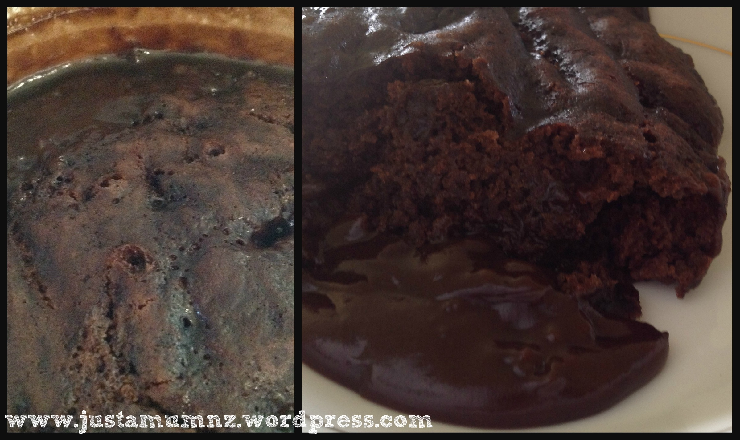 how to make chocolate self saucing pudding