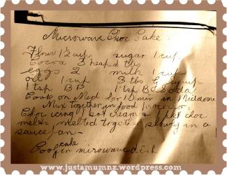 Grandma's Microwave Chocolate Cake 1